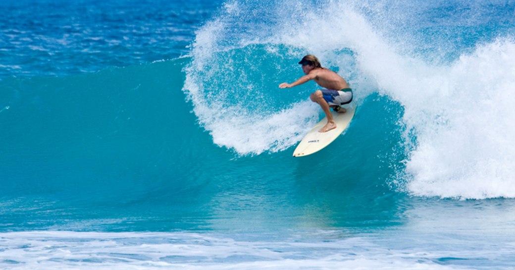 surfing at Apple Bay Beach