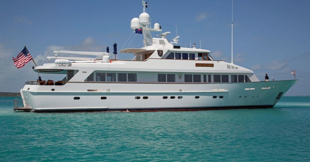 The profile of Feadship superyacht 'Lady Victoria'