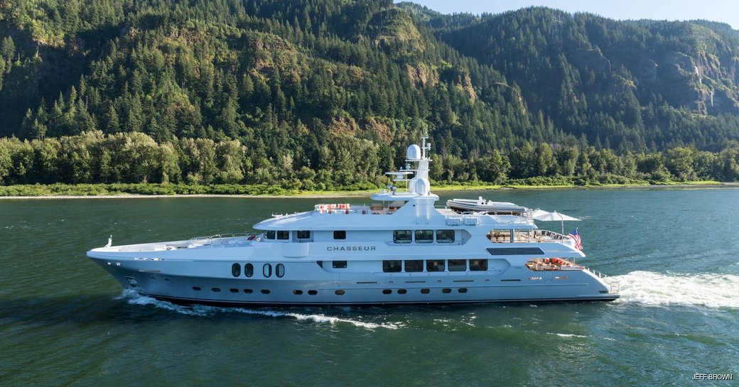 motor yacht chasseur on the water