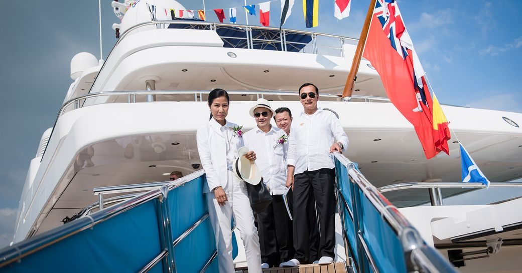 Thai government ministers launch the first edition of the Thailand Yacht Show