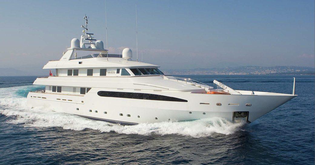 charter yacht BALAJU on display at 2015 miami yacht and brokerage show