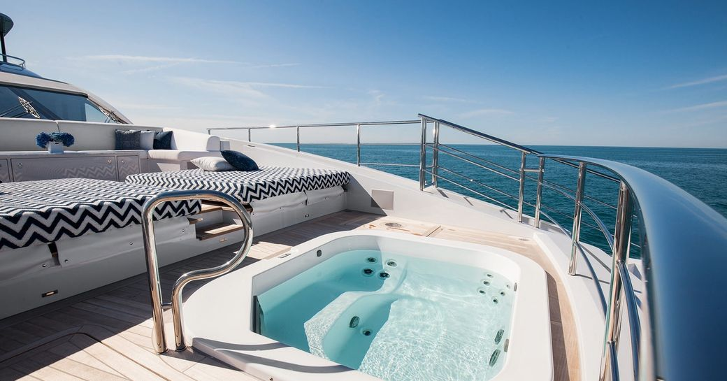 superyacht 'H' available for christmas or new year's charter in the Caribbean