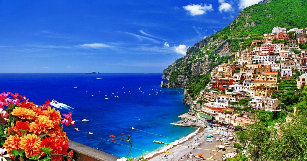 Beautiful Positano on the Amalfi Coast in Italy