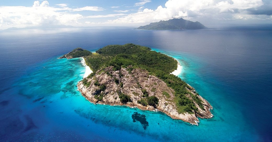Aerial view of Seychelles