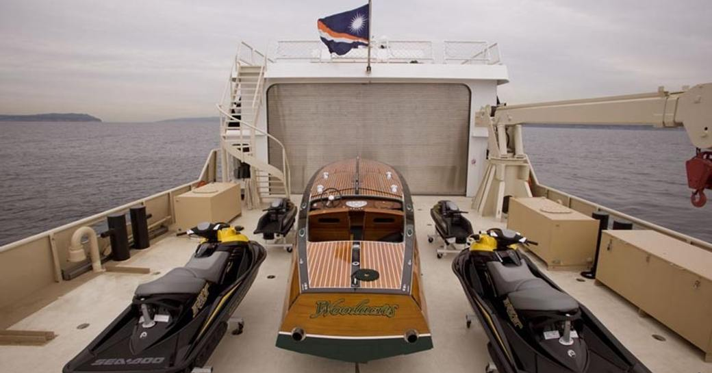 luxury expedition yacht SURI watertoys and tender available to use on luxury cruises in papua new guinea
