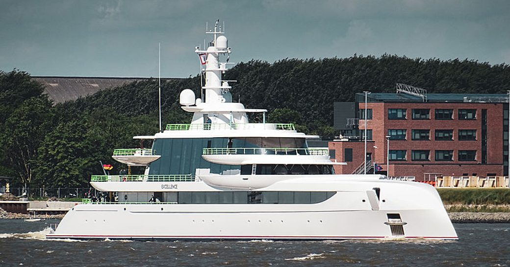 Motor yacht EXCELLENCE on sea trials in Germany