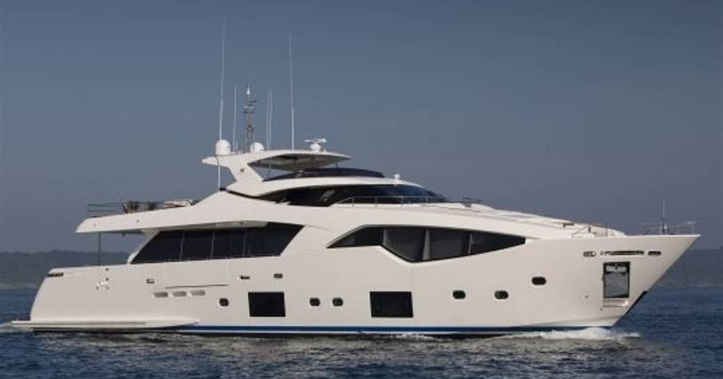 superyacht Alandrea when cruising on charter in the Caribbean