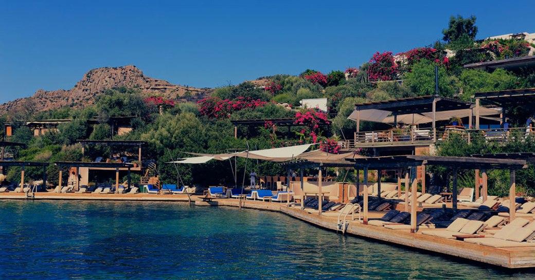 Maçakizi beach club in Bodrum, Turkey