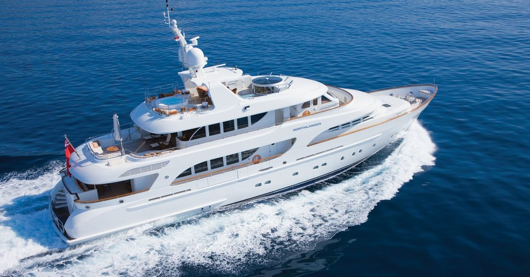 superyacht NORTHLANDER on display at 2015 miami yacht and brokerage show