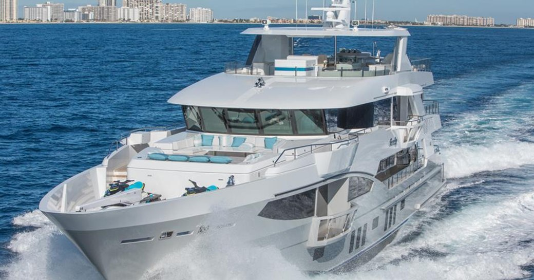 Motor yacht SERENITY on the water