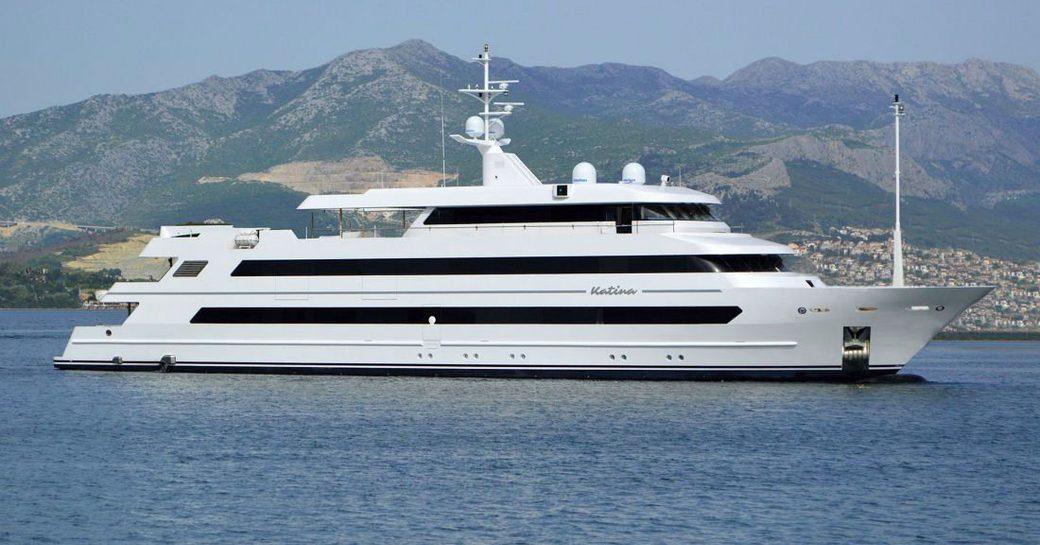 charter yacht KATINA cruising on a yachting vacation