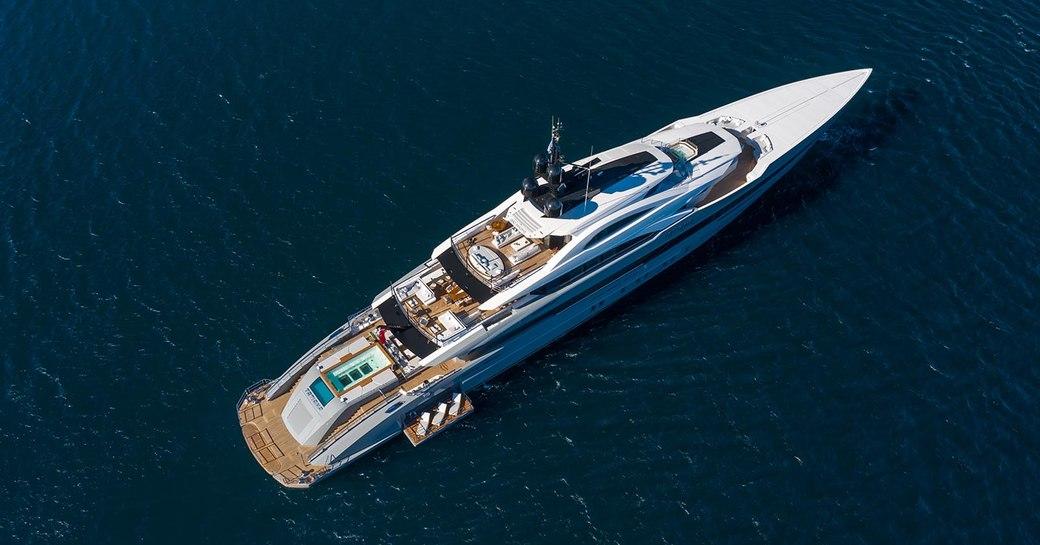 aerial shot of bilgin yacht tatiana