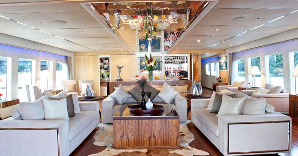 luxury yacht charter tango main salon
