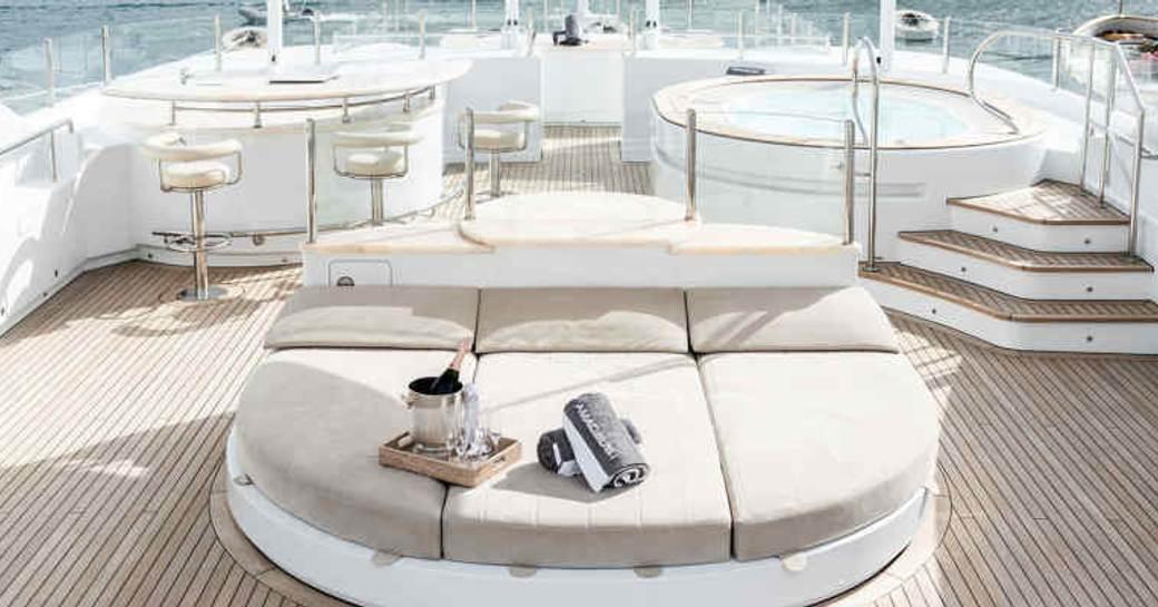 Sundeck onboard MY Amadeus I