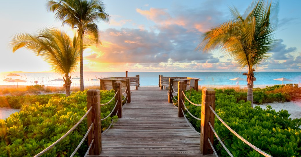 Beachfront view of the Bahamas