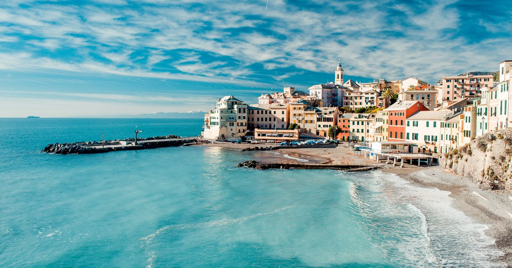 a breathtakingly quaint coastal town in west coast Italy where fleets of luxury superyachts berth while on vacation