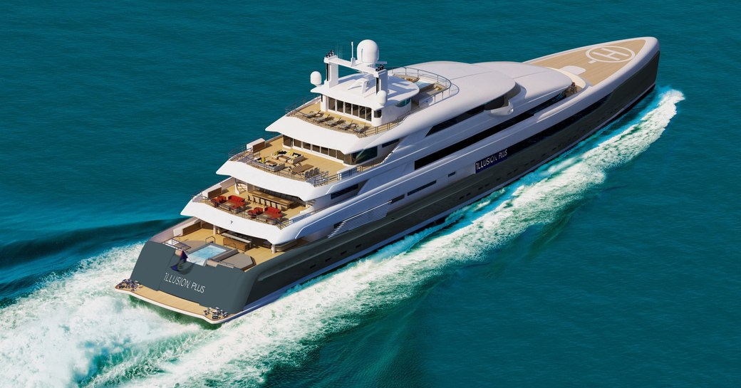 New renderings paint a picture of serenity aboard 88m megayacht 'Illusion Plus' photo 3