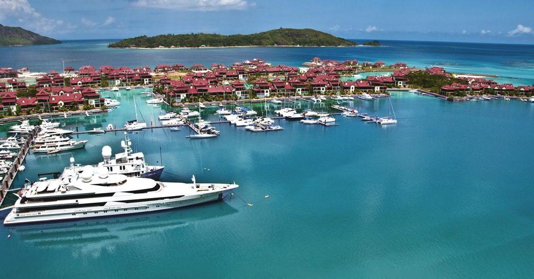 Marina in the Seychelles