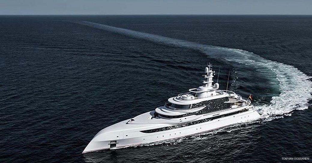 Luxury yacht EXCELLENCE underway