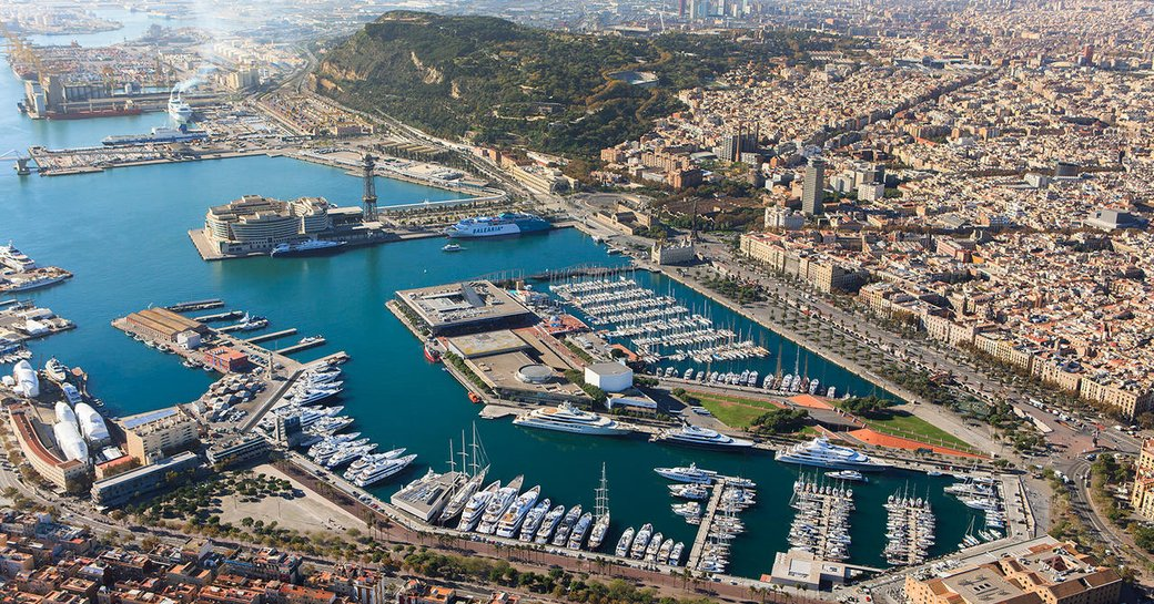 OneOcean Port Vell in Barcelona as seen from above
