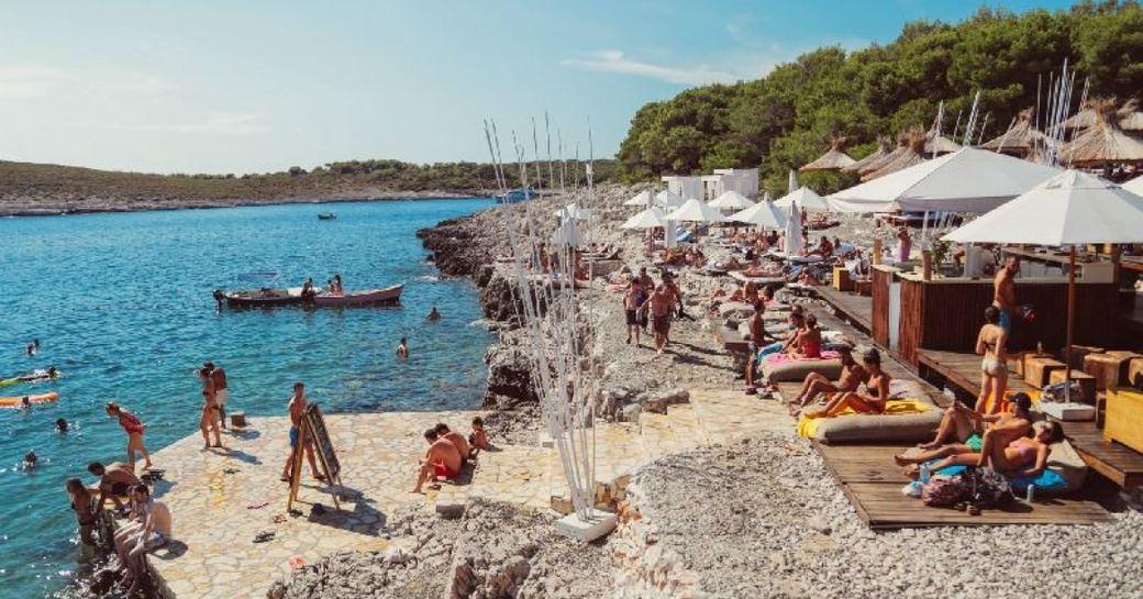 Carpe Diem Beach, Hvar, Croatia