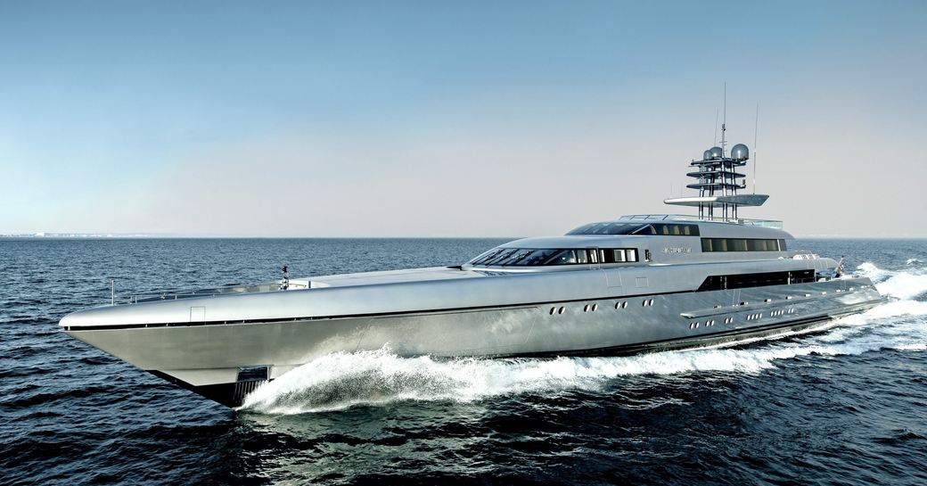 luxury yacht 'Silver Fast' cruising on charter in the Maldives