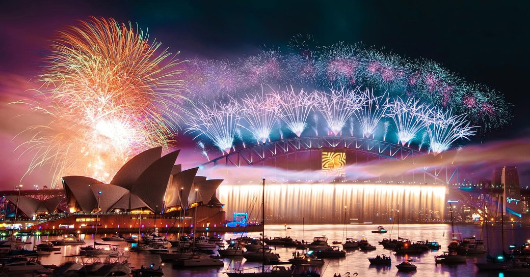fireworks in Sydney Harbour on New Year's Eve