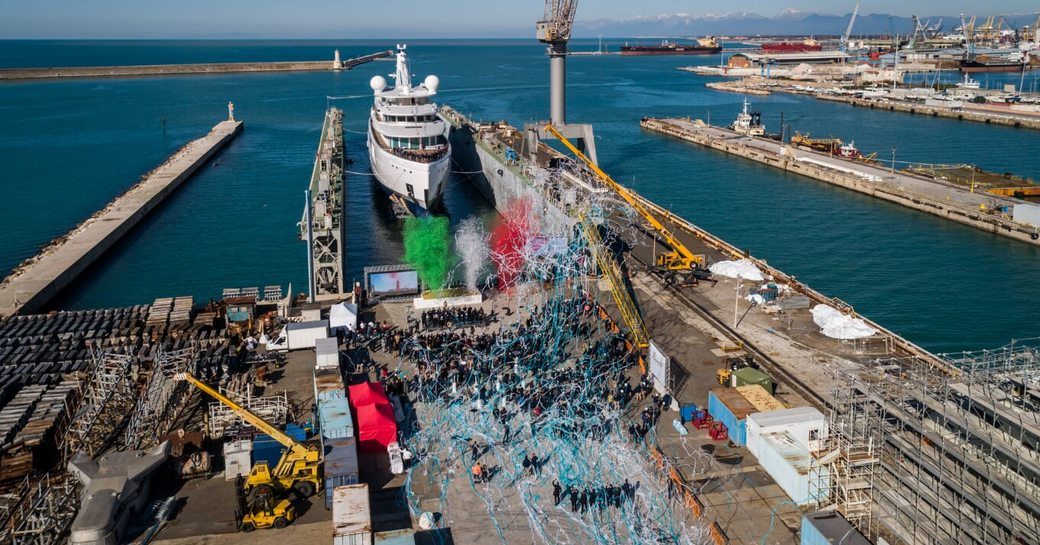 Benetti Project 272 being launched in Italy