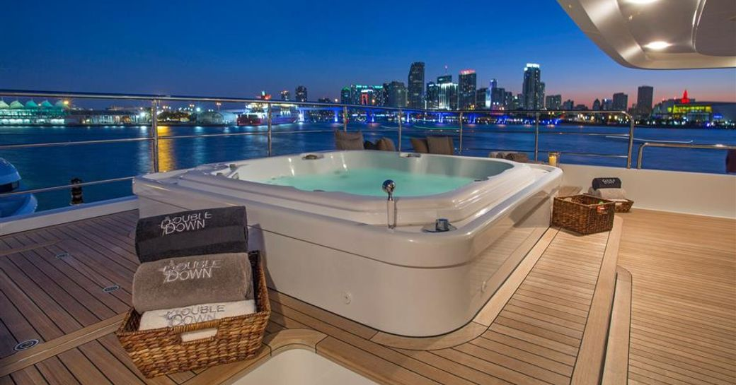 The Jacuzzi on board motor yacht 'Double Down'