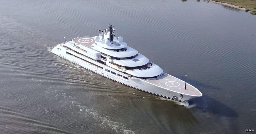 Superyacht Project Lightning on sea trials