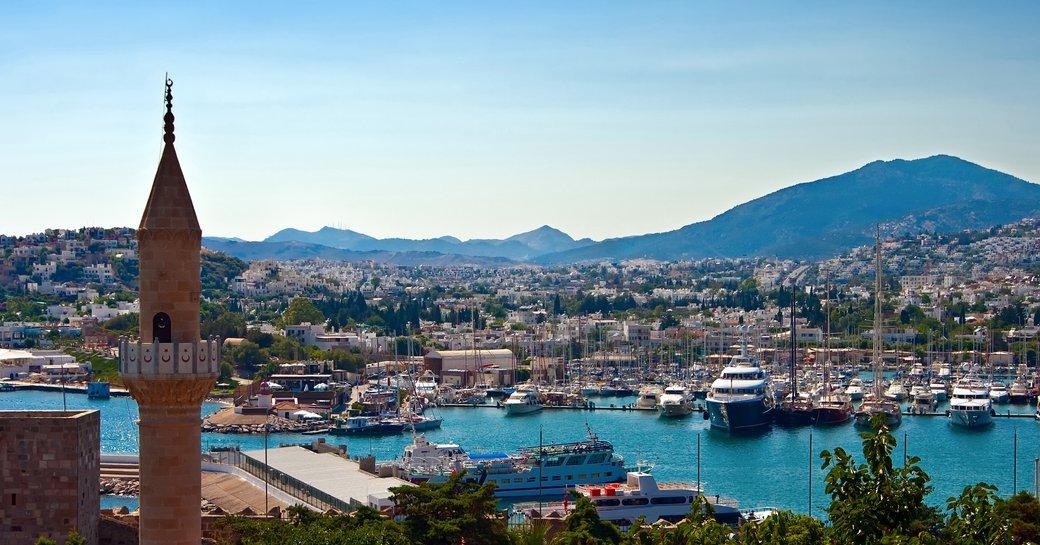 Marina in Bodrum, Turkey
