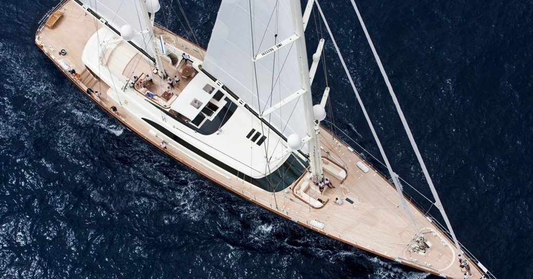 superyacht FIDELIS underway on a South Pacific yacht charter