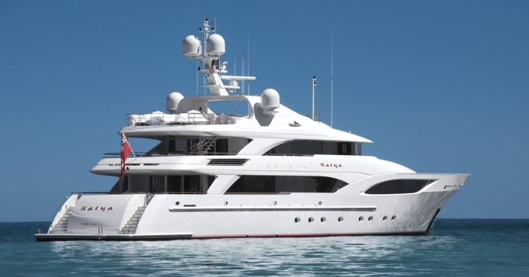 Luxury yacht KATYA underway