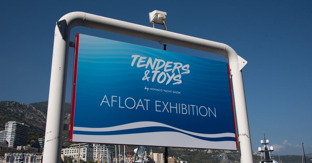 Tenders and toys sign at the MYS 2021