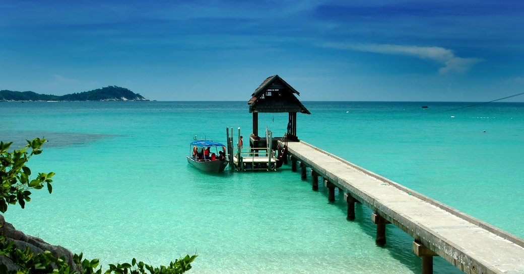explore beaches on a family-friendly luxury yacht charter in Malaysia