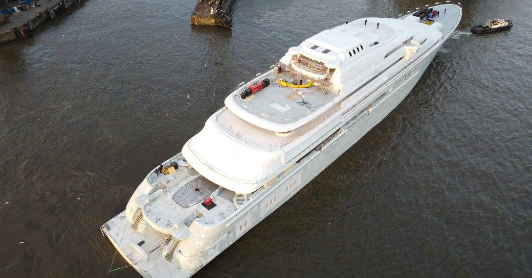 Technical launch of Lurssen's motor yacht OPERA