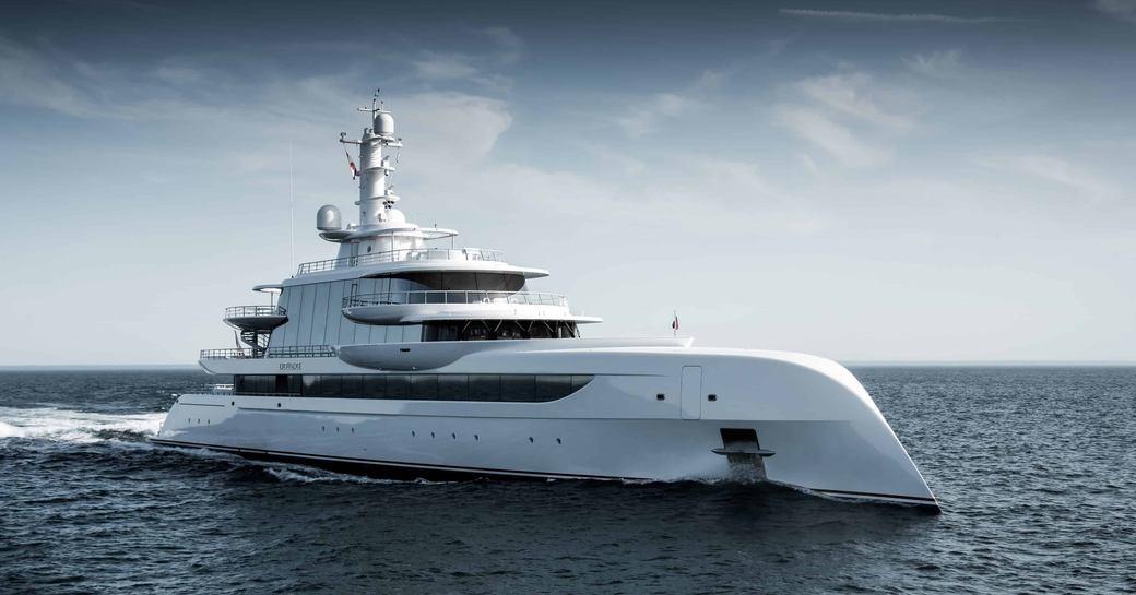 Superyacht EXCELLENCE underway