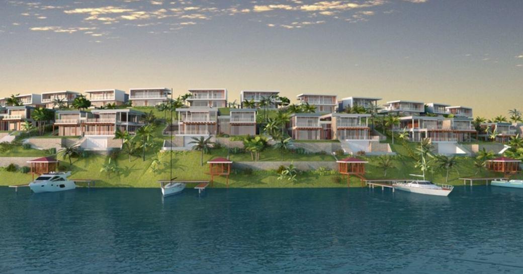Graphic rendering of the Porto Maho Marina