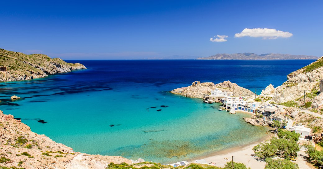 Little sheltered bay in Greece