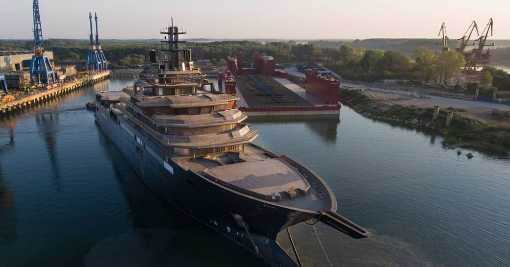 Expedition yacht REV on the water