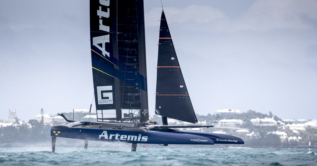 Artemis Racing of Sweden competing in the America's Cup 2017