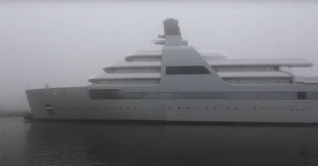 Foggy skies during superyacht SOLARIS launch