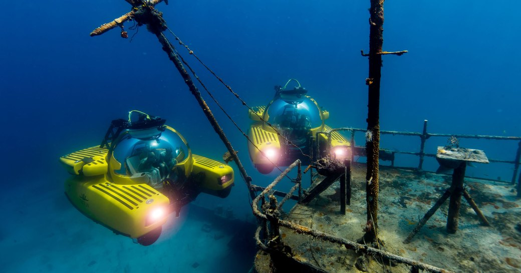 Wreck diving off U-Boat Navigator