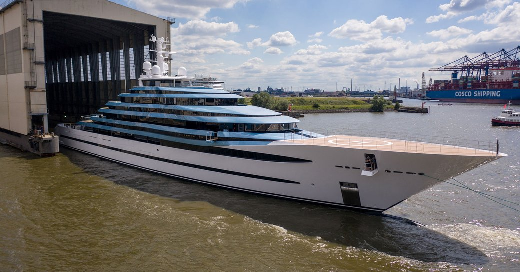 KAOS yacht leaves Lurssen