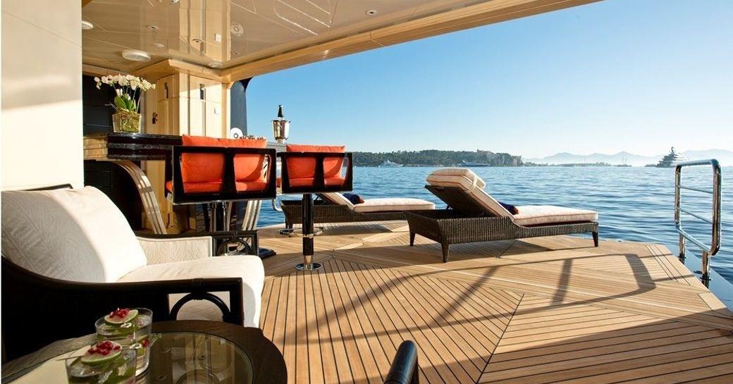 Beach club on Superyacht Excellence V