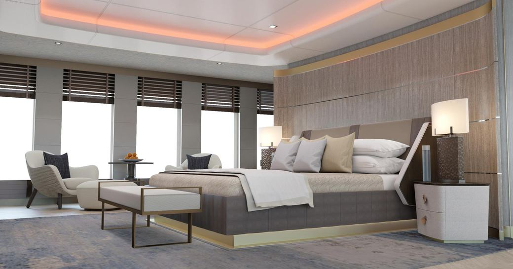 Large cabin on superyacht MOSKITO