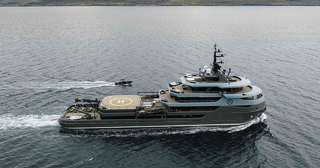 Explorer yacht RAGNAR receives prestigious fire brigade salute at Monaco Yacht Club photo 2
