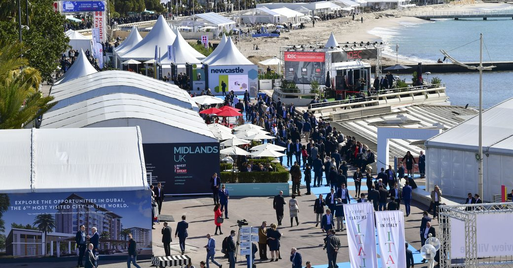 Participants of MIPIM at the event in Cannes