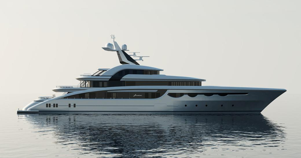 luxury yacht soaring rendering