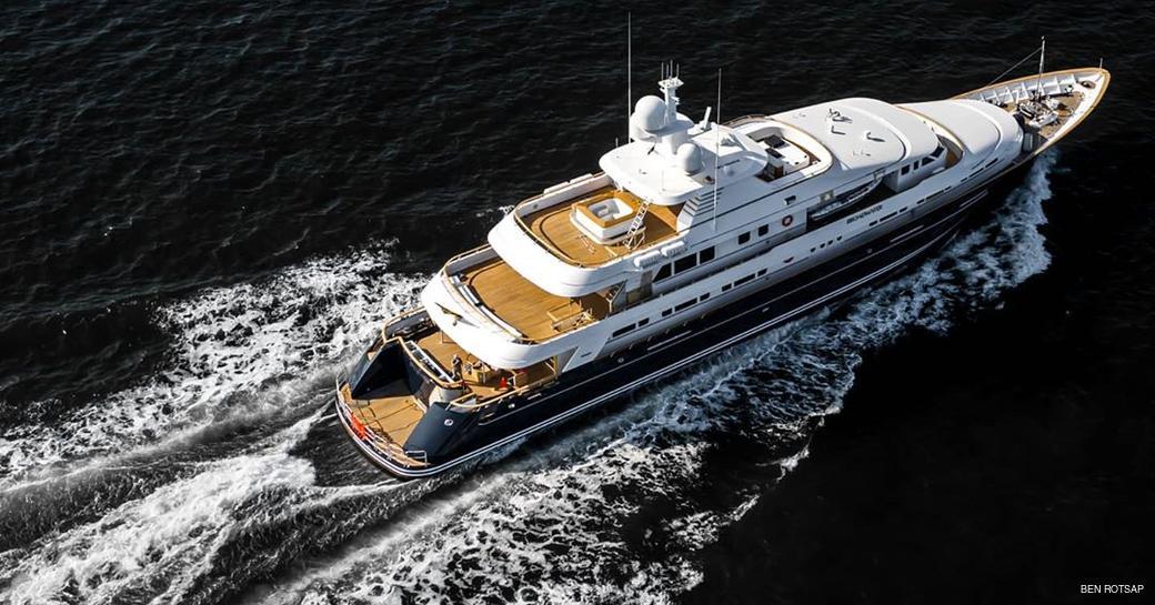 luxury feadship superyacht broadwater underway